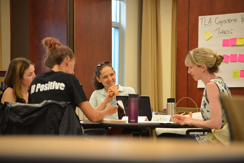 Rachael Gabriel leading a Teacher Leadership Academy exercise in 2016.